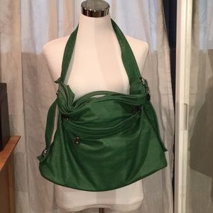 EUC Nila Anthony oversized tote shoulder bag green